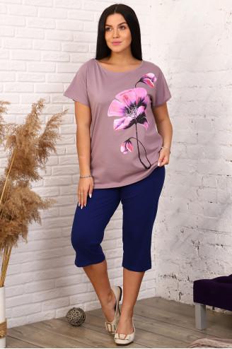 Костюм с бриджами 51023  Сухая роза