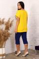 Костюм с бриджами 51023  Жёлтый