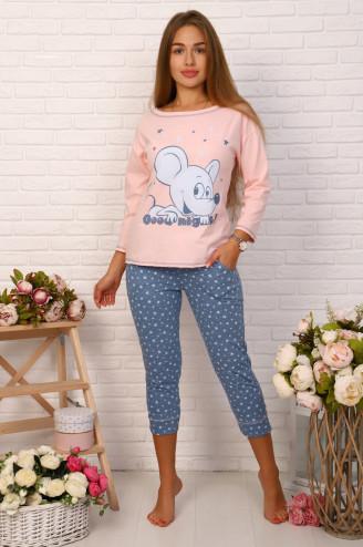 Костюм с бриджами МЫШКА  Розовый