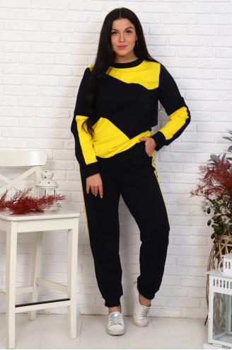 Костюм с брюками 50352  Чёрный