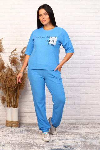 Костюм с брюками 61001  Голубой