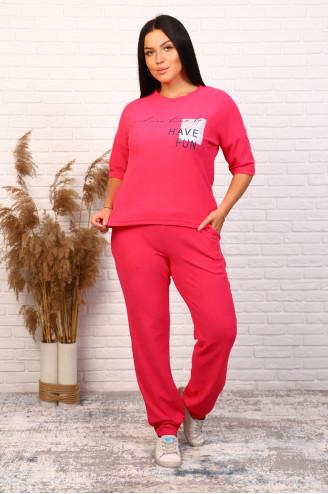 Костюм с брюками 61001  Фуксия