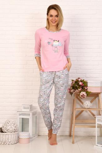 Костюм с брюками МИЛКА  Розовый