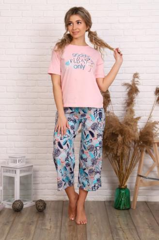 Костюм с брюками ЛОЛА  Розовый