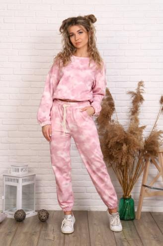 Костюм с брюками ДЖАГГИ  Розовый
