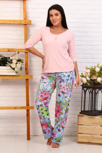Костюм с брюками  ВЕСТА  Розовый