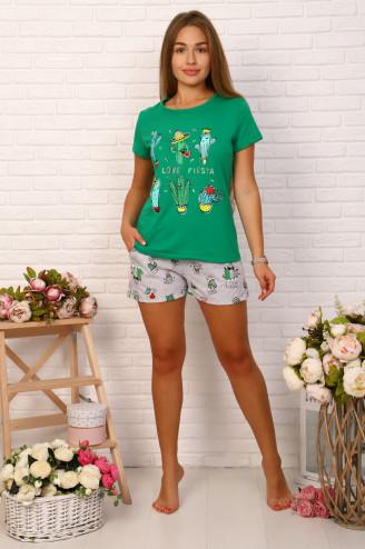 Костюм с шортами КАКТУС  Зелёный