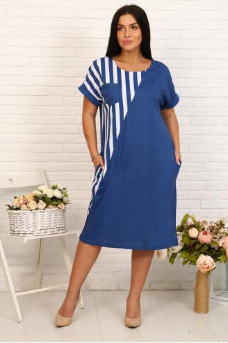 Платье женское  32242  Индиго