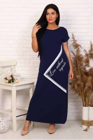 Платье женское  03631  Синий