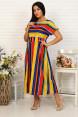 Платье женское  42053  Полоска