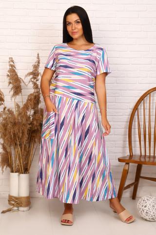 Платье женское 13672  Сиреневый