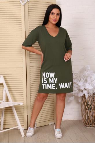 Платье женское  02053  Хаки
