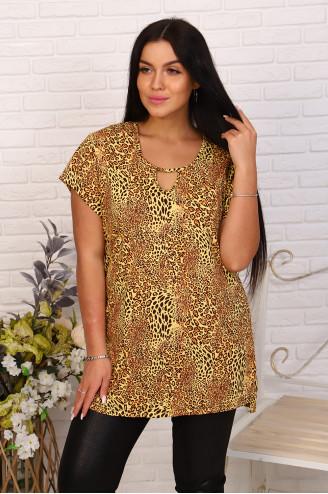 Туника женская 2833  Леопардовый