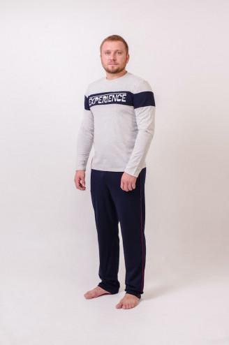 Костюм мужской с брюками КВИНТ  Серый