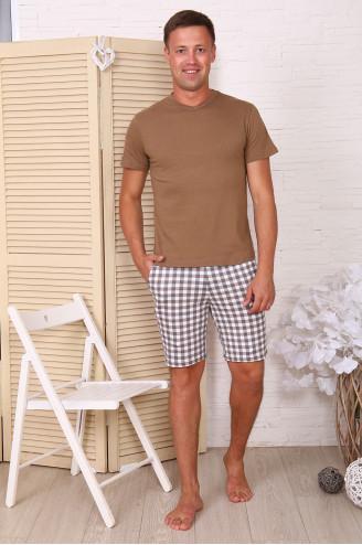 Костюм мужской с шортами 91053  Кофе