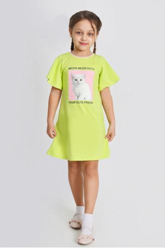 Платье детское КАРЕЛИЯ  Зеленое